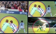 Real Sociedad shared images of the supposed penalty. Twitter/RealSociedad