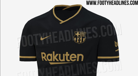 Barca's second kit for the 2020-21 season has been leaked.  FootyHeadlines