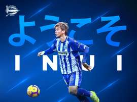 Inui rejoint Alaves. Twitter/DeportivoAlaves