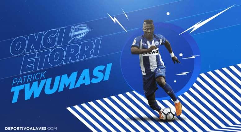 Patrick Twumasi jugará en el 'Glorioso' esta temporada. DeportivoAlaves