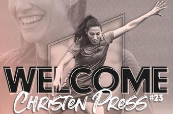 Christen Press jugará en la NWSL a partir de 2022. Twitter/AngelCityFC