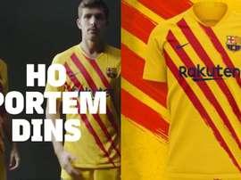 Le nouveau maillot du Barça aux couleurs de la Catalogne. FCBarcelona