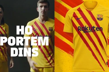 They have a new kit. FCBarcelona