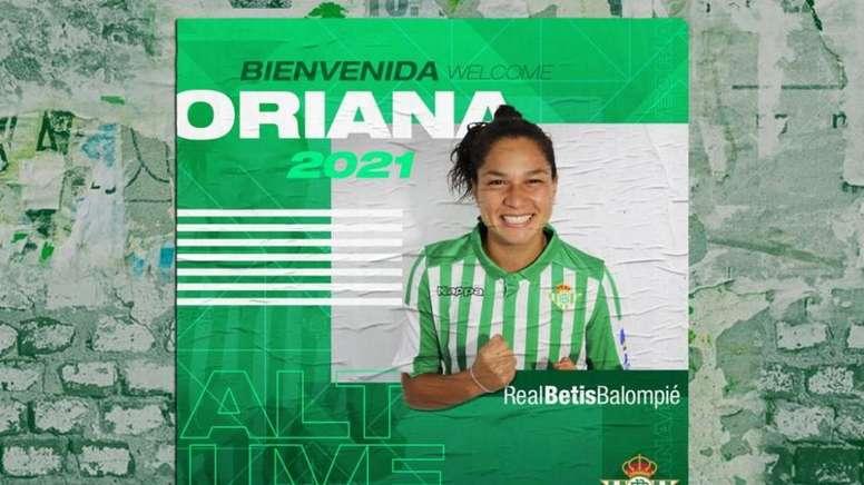 Oriana Altuve jugará su tercera temporada en España. RealBetisBalompie