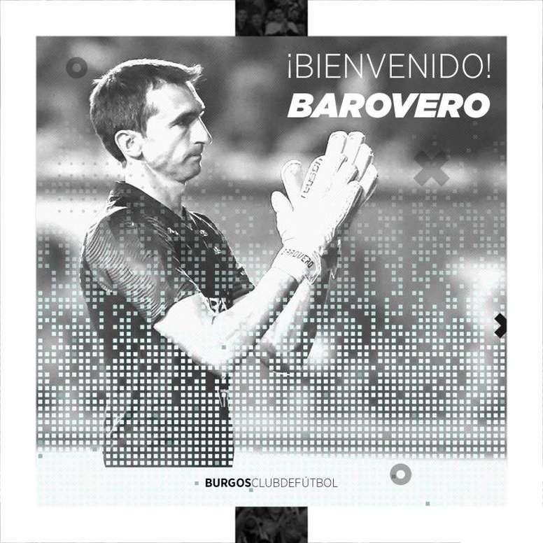 Barovero continuará su carrera en España. Twitter/Burgos_CF