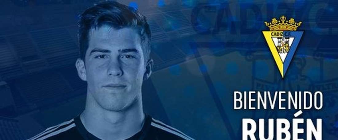Getafe appointed Ruben Yanez as their new player. Twitter/Cadiz_CF