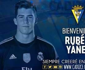 Getafe appointed Ruben Yanez as their new player. Twitter/Cadiz_CF