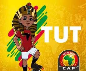 Un petit pharaon comme mascotte. Twitter/caf_online