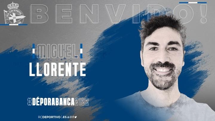 Llorente ha firmado para la temporada 2021-22. RCDeportivo
