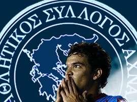 Imagen con la que el Ethnikos Achna chipriota anunció el fichaje del futbolista argentino Emilio Zelaya. EthnikosAchnaFC