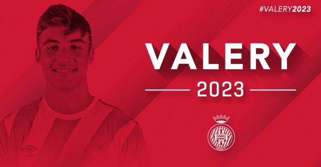 Valery debutó con el primer equipo el pasado 31 de octubre. GironaFC