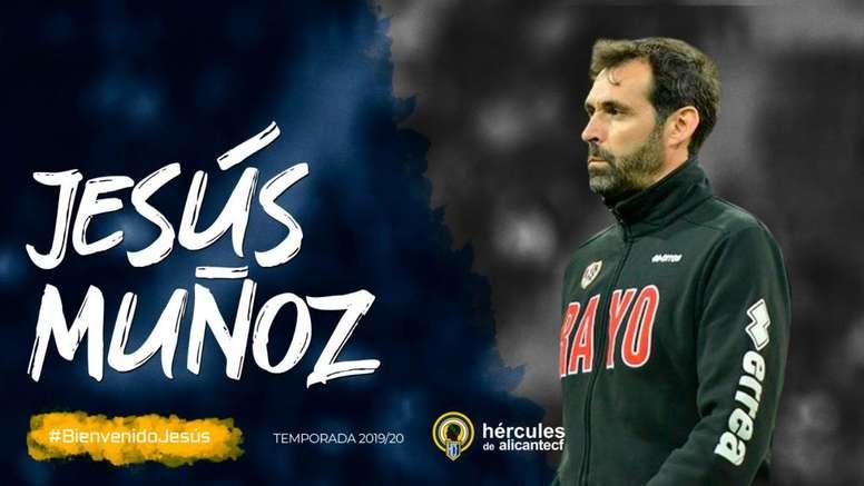 El Hércules presentará este lunes a su nuevo entrenador. Twitter/cfhercules