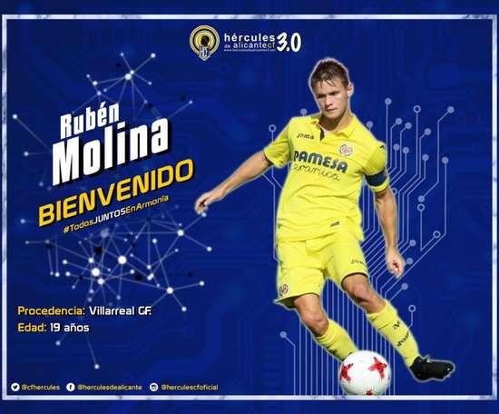 El lateral procede del Villarreal C. Twitter/CFHercules