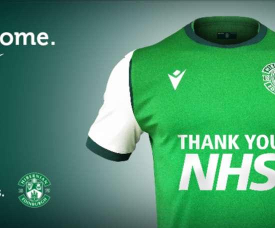 Así será la camiseta del Hibernian la próxima temporada. HibernianFC