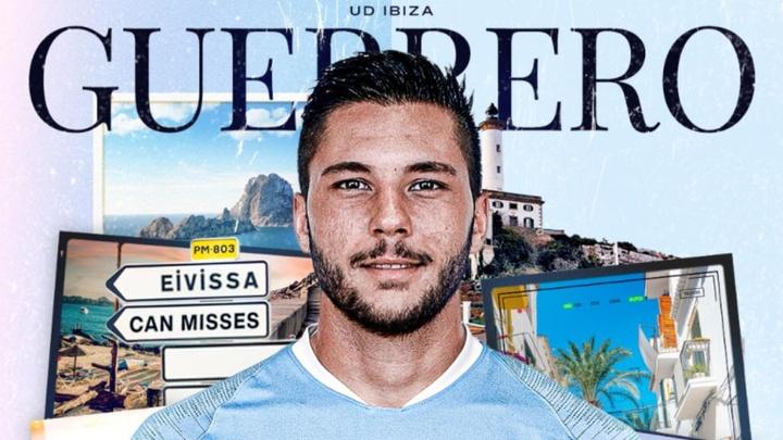 Guerrero continuará su carrera en el Ibiza. Twitter/ibizaud
