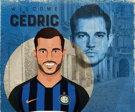 Cédric Soares não faz parte das opções do Inter para a próxima temporada. Twitter/Inter_es