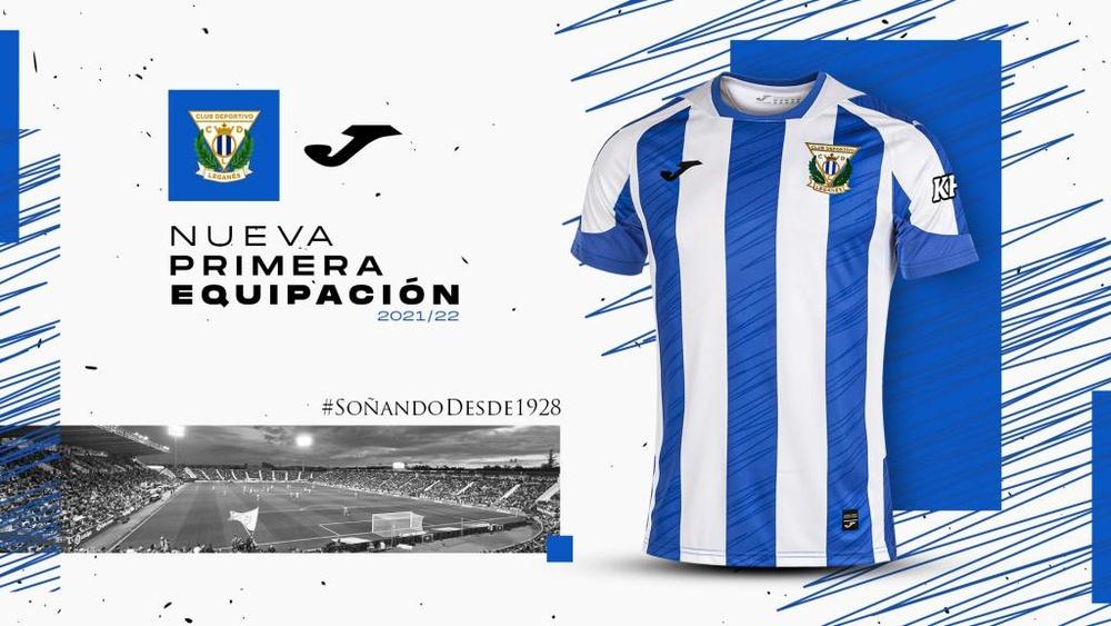 Tres rayas no uniformes, tradición e innovación. Twitter/CDLeganes