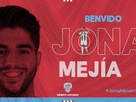 Jona Mejía jugará cedido este curso en el Lugo. Twitter/CDeportivoLugo