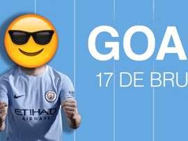El City hizo una excepción en su política de celebración de goles. Twitter/ManCity