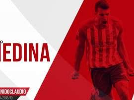Claudio Medina jugará esta temporada en el Mirandés. Twitter/CDMirandes