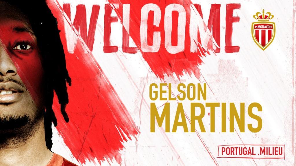El Atlético traspasó a Gelson Martins al Mónaco