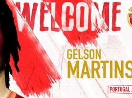 Gelson ha firmado por cinco temporadas con el Mónaco. Twitter/AS_Monaco