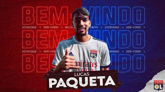 Paqueta is now at Lyon. Twitter/OLTV_officiel