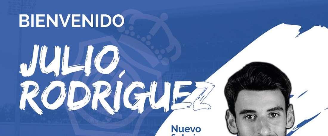 Julio Rodríguez jugará en el 'Decano' dos temporadas. Twitter/RecreOficial