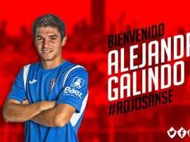 Alejandro Galindo jugará en el Sanse esta temporada. Twitter/UDSanse