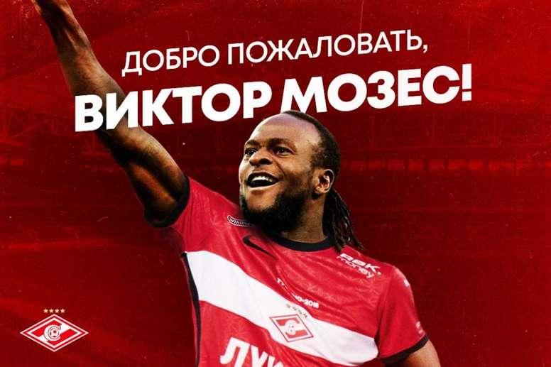Moses continuará su carrera en Rusia. Spartak