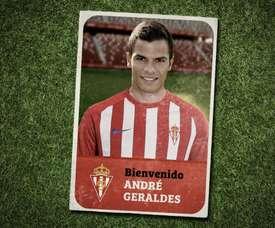 Geraldes ofreció sus primeras palabras en el Sporting. Twitter/RealSporting