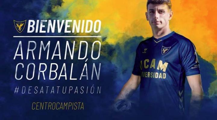 Armando Corbalán ha firmado con el UCAM para la temporada 21-22. UCAMDeportes