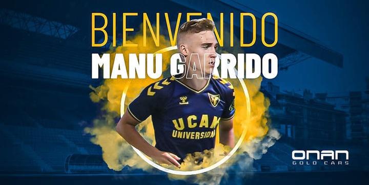 Garrido llega procedente del Leganés. UCAMDeportes
