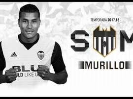 Jeison Murillo anunciado no Valencia. Twitter/ValenciaCF