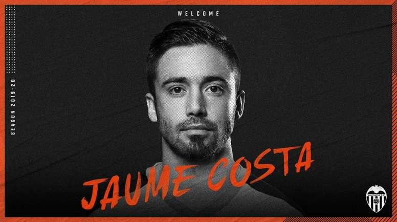 Jaume Costa se ha ido un poco al sur. Twitter/valenciacf