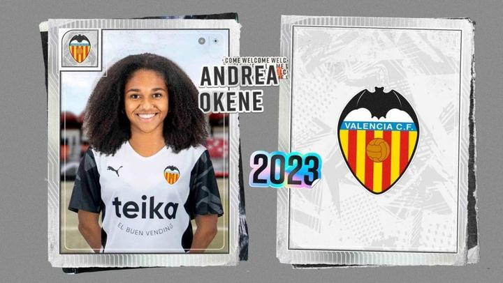 Andrea Okene ha firmado hasta 2023 con el Valencia. ValenciaCF