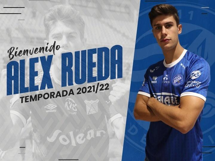 Álex Rueda jugará en el Xerez Deportivo este curso. Twitter/XerezDFC