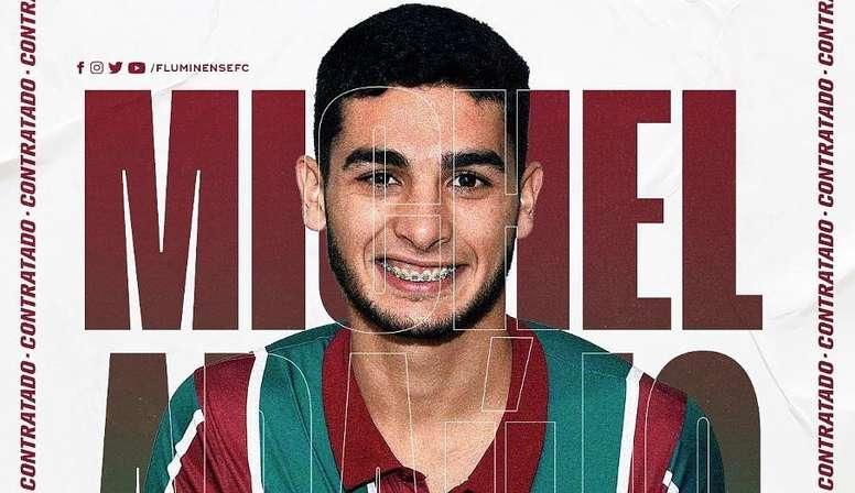 Fluminense annonce l'arrivée de Michel Araújo. Twitter/FluminenseFC