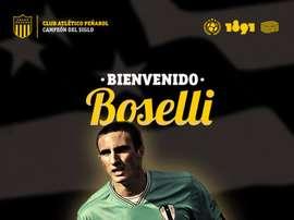 Imagen con la que Peñarol dio la bienvenida a Boselli. OficialCAP