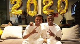 Rodrygo e Vinicius passam a virada do ano juntos. Instagram/ViniciusJunior