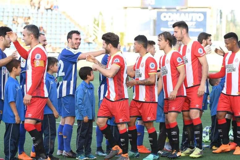 El Girona venció por 0-6 al Figueres. Twitter/GironaFC