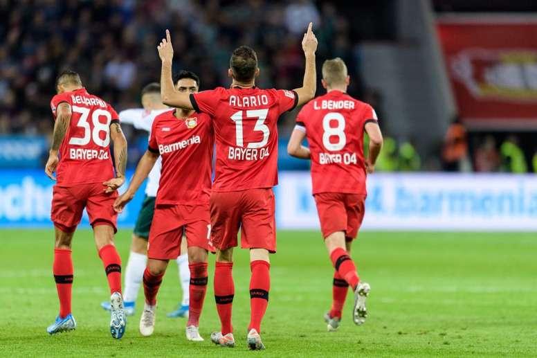 Bayer Leverkusen y Werder Bremen empataron a dos. Twitter/Bayer04_es
