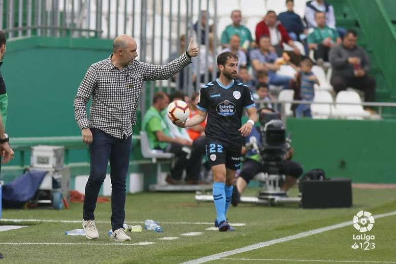 Monteagudo deja de ser el entrenador del Lugo. LaLiga
