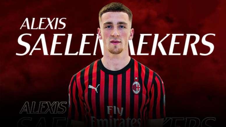 Saelemaekers, nuevo jugador 'rossonero'. Twitter/acmilan