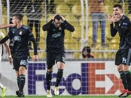 Après Dani Olmo, un autre joueur du Dynamo Zagreb intéresse le Barça. AFP