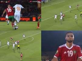 Festival entre Amrabat et En-Nesyri pour le seul but de Maroc-Côte d'Ivoire. Capture/Eurosport