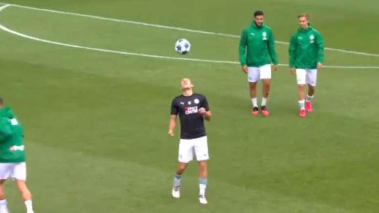 Robben, lo más destacado de un nuevo amistoso del Groningen. Captura/FoxSportsnl