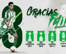 Felipe Aguilar teve um sentido adeus. Twitter/nacionaloficial