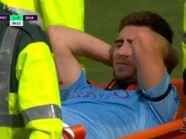 Laporte se blesse avec City avant de rejoindre les Bleus. Capture/DAZN