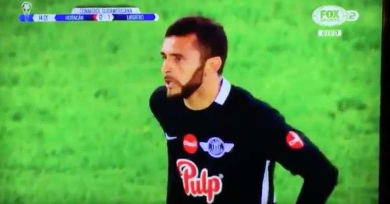 Bareiro's face after receiving the nutmeg. Twitter